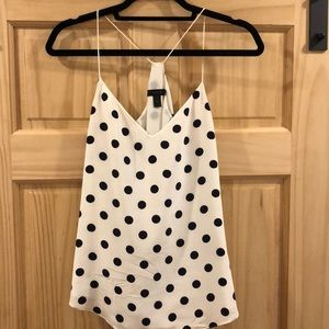 Jcrew Silk Polka Dot Camisole
